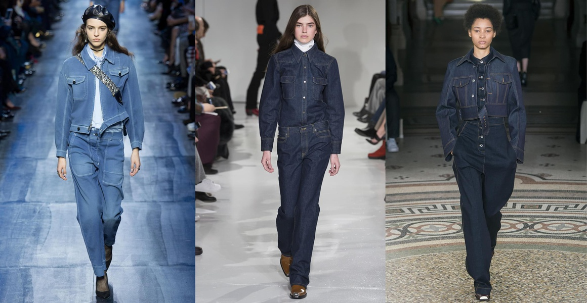 Double Denim Fashion Week Fall Winter 2018 Collection Latest Trend