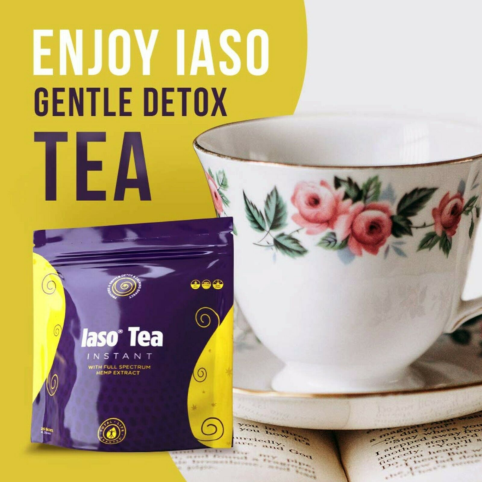 Relax And Detox With Iaso Tea With Hemp Extract Women Supporting Women